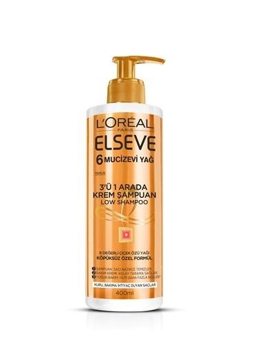 L'Oréal Paris Elseve 6 Mucizevi Yağ 3'Ü 1 Arada Krem Şampuan Renksiz